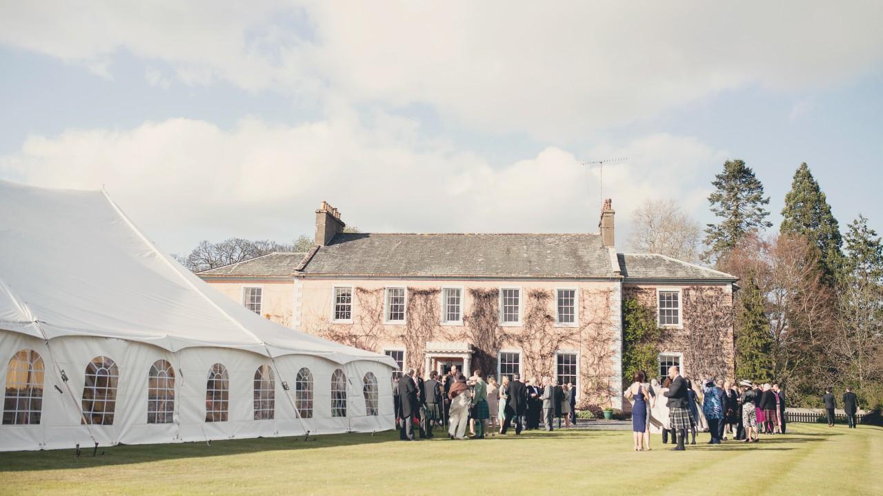 Marquee Wedding venue in Cumbria